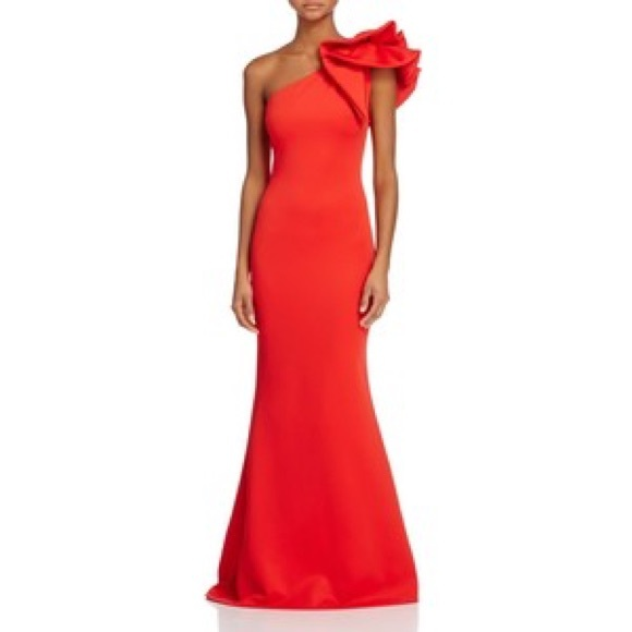b964b304 Betsy & Adam Dresses & Skirts - Betsy & Adam ruffled one shoulder scuba gown